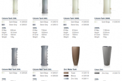Decorative classic line columns and vases Graf
