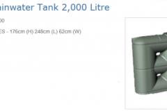 ES2000 litre slimline tank Graf