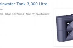 ES3000 litre slimline tank Graf